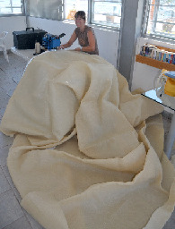 Seu sewing sunshade
