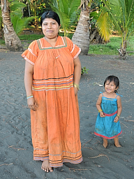 Caretakers wife and daughter