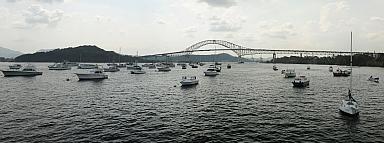 Balboa Yacht Club and Bridge of the Americas