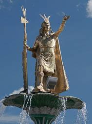 Statue of Pachacutec - founder of Cusco