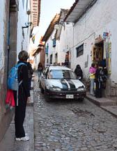 Narrow streets in Cusco