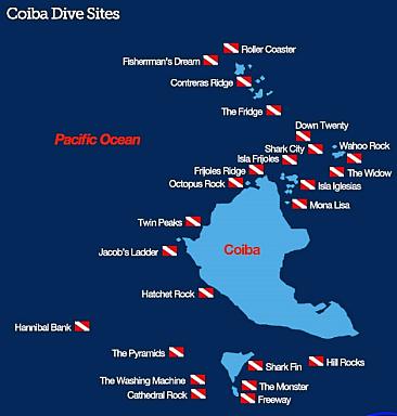Coiba Park Dive Sites