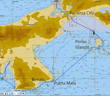 Route to Perlas Islands