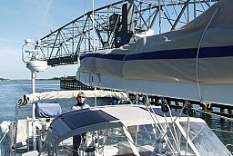 Sue Navigating thru Bridge